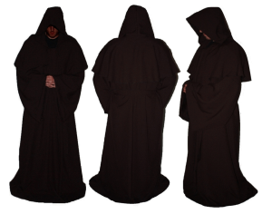 Picture of three black monks